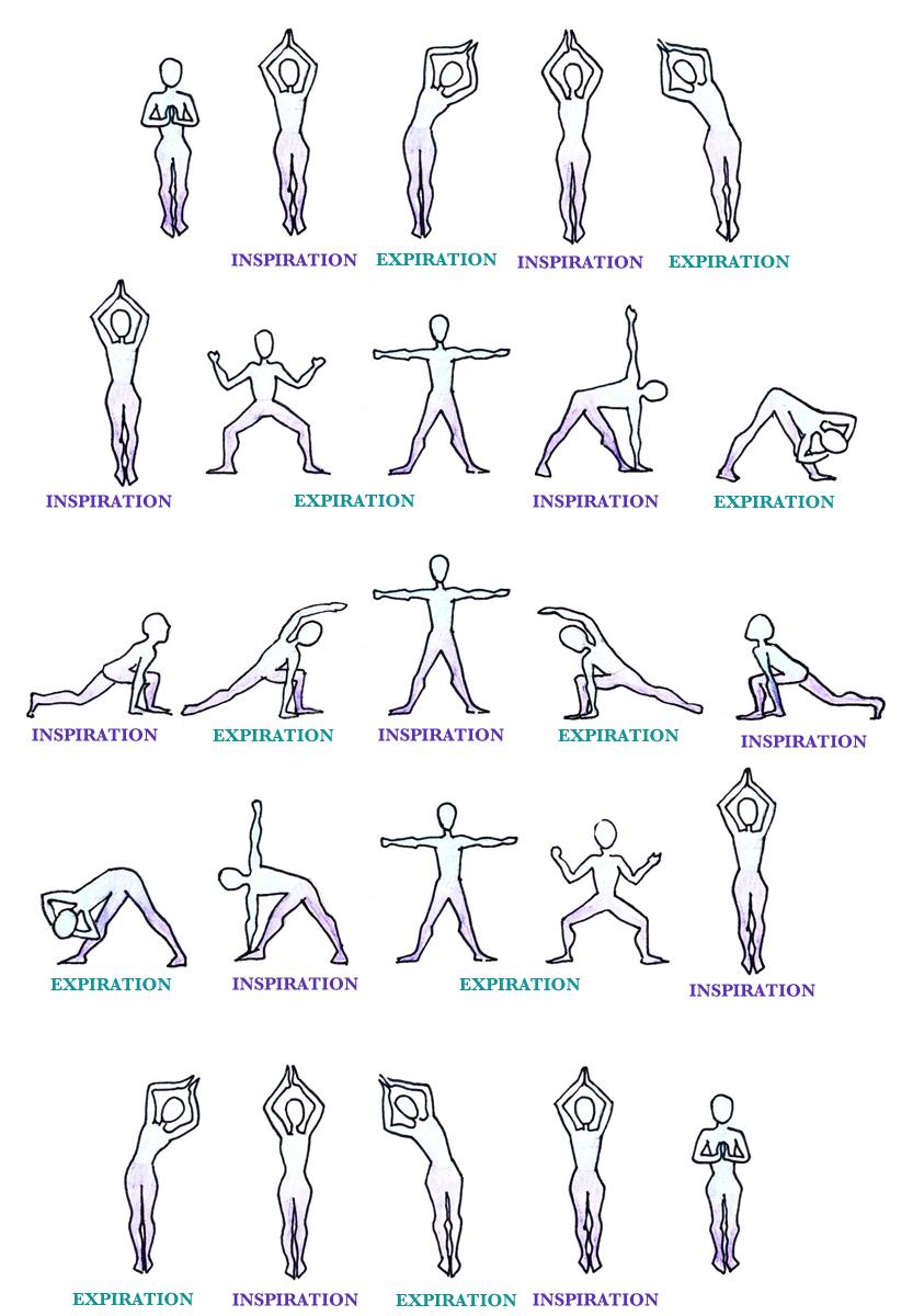 chandra namaskar salutation lune yoga respiration