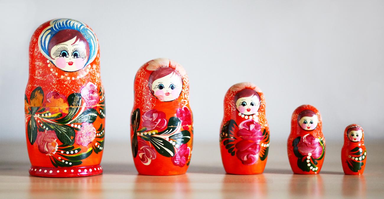 pancha kosha 5 envelopes poupee russe