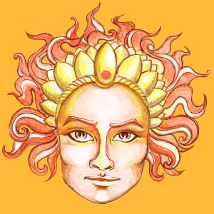 Jours de la semaine : leurs planètes, énergies et couleurs Soleil-dimanche-orange-yogavedas-300x300