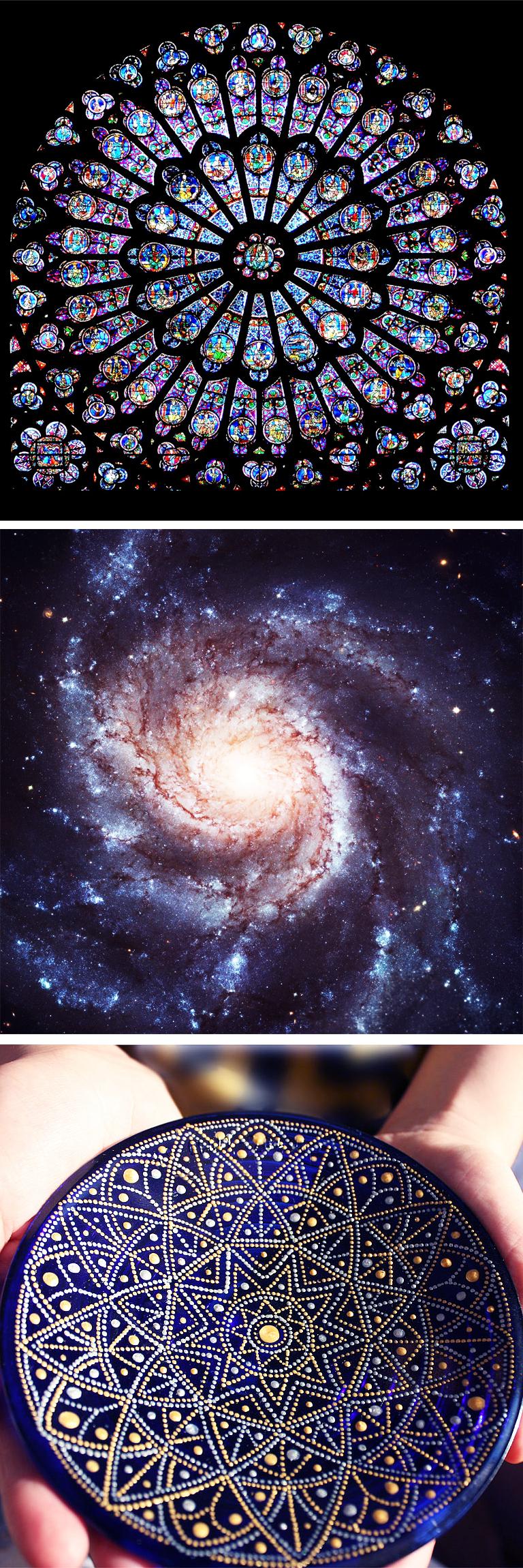 mandalas cosmique espace rosas yoga&vedas