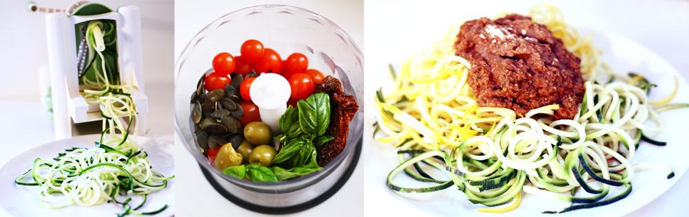 courgette spirale spaghetti legumes