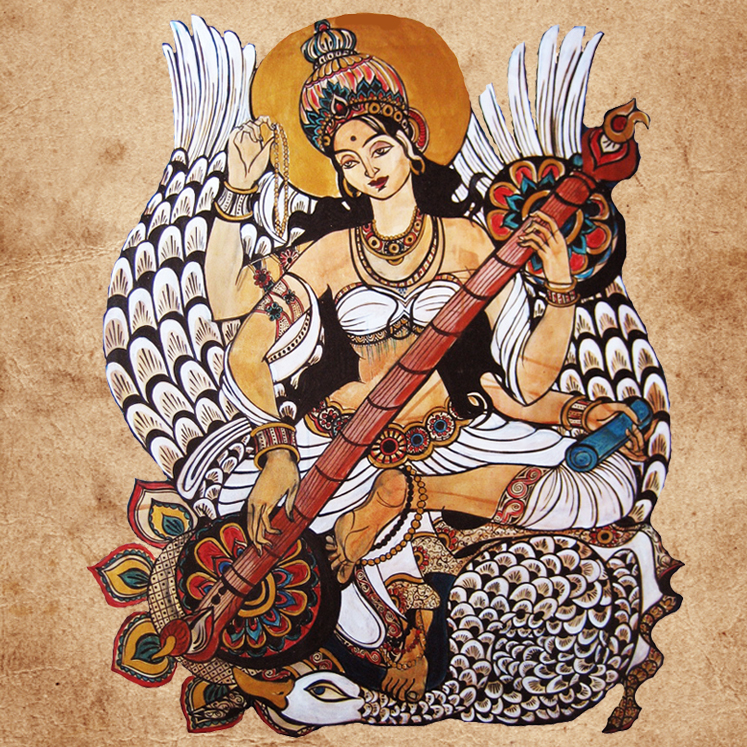 sarasvati yogini arts talents feminite connaissance yoga&vedas
