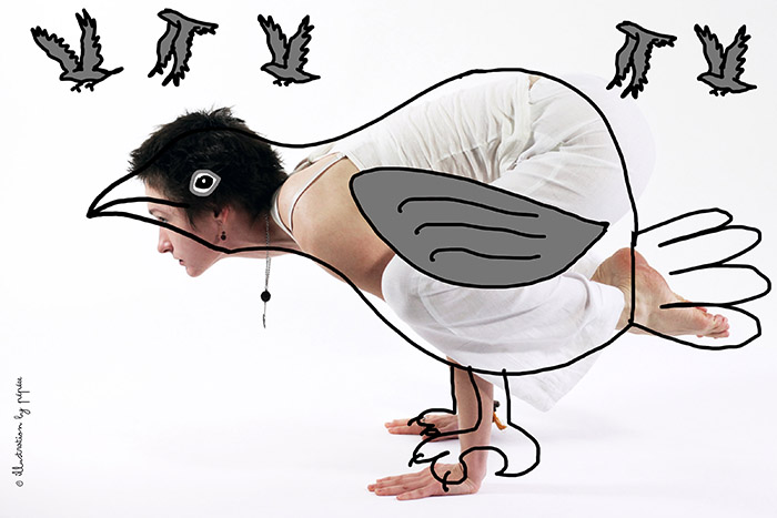 maitri corbeau yoga kakasana by pépée
