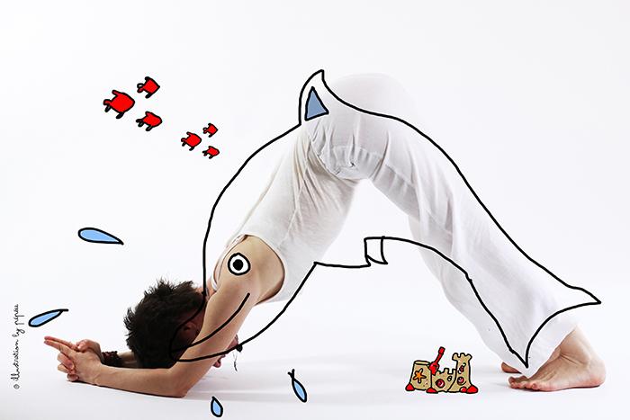 maitri dauphin yoga by pépée ardha sirshasana