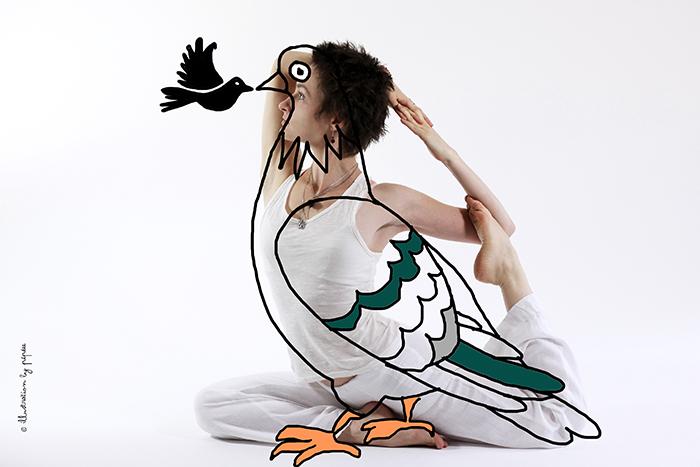 maitri yoga kapotasana pigeon by pépée