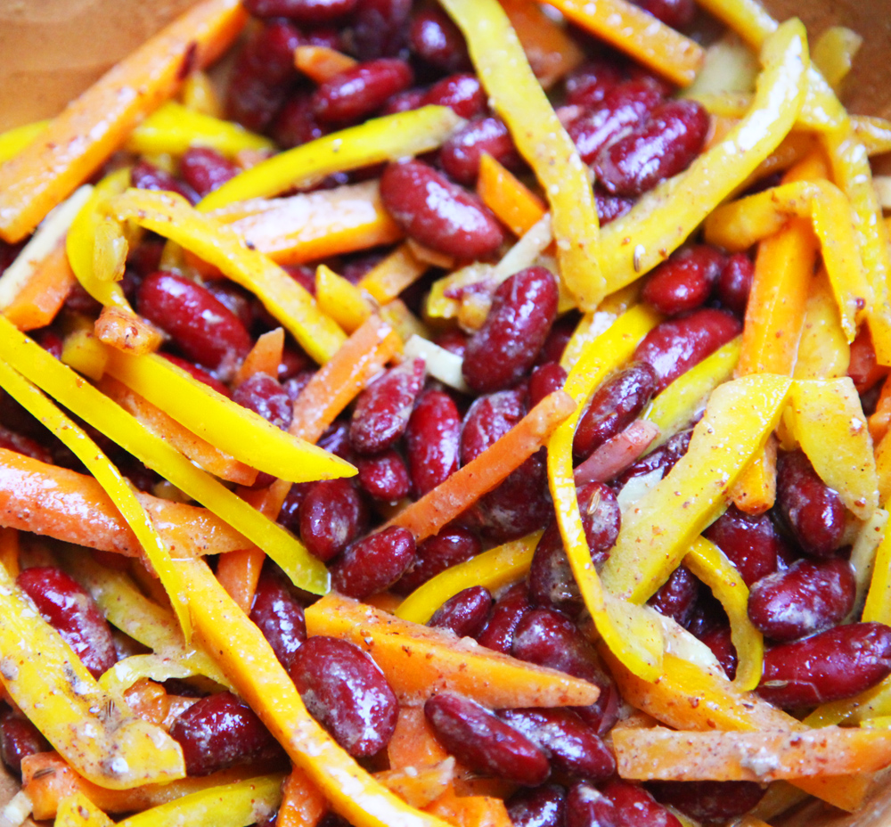 salade beans haricots couverture
