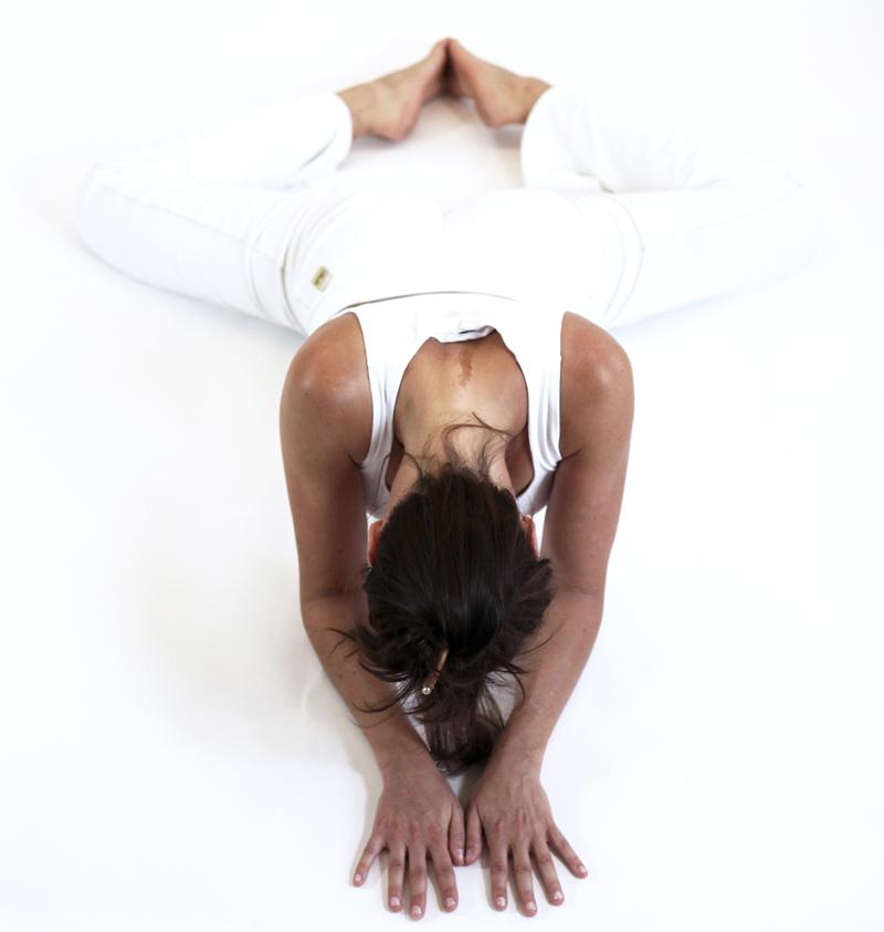 mandukasana grenouille posture ouverture bassin yoga&vedas