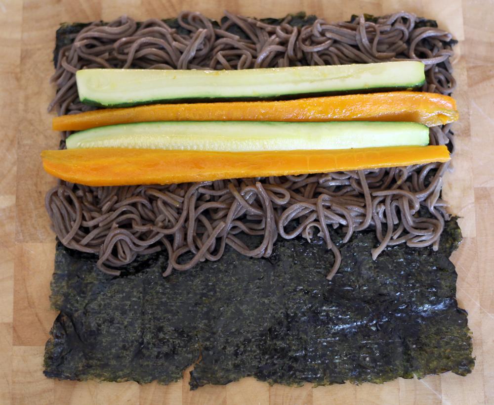 maki nori soba vegetarien legumes sarrasin