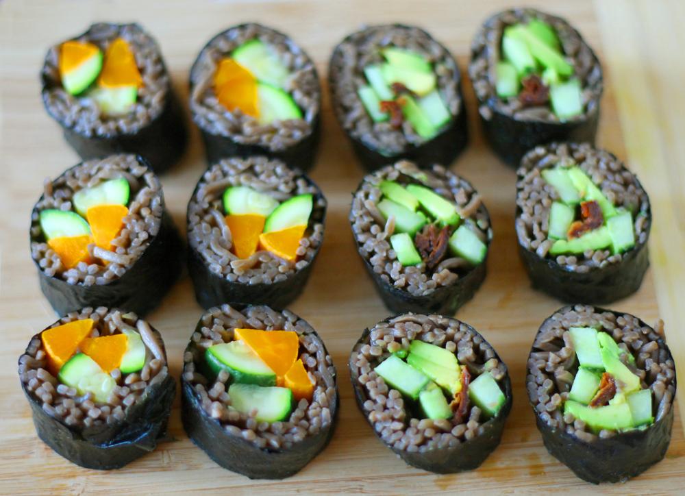 maki soba nouilles vegetarien legumes sarrasin